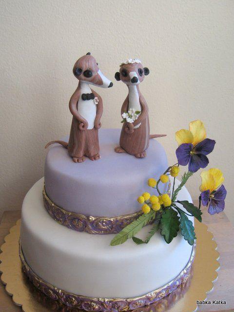 Svadobná gratulačná, na želanie so surikatami :-)