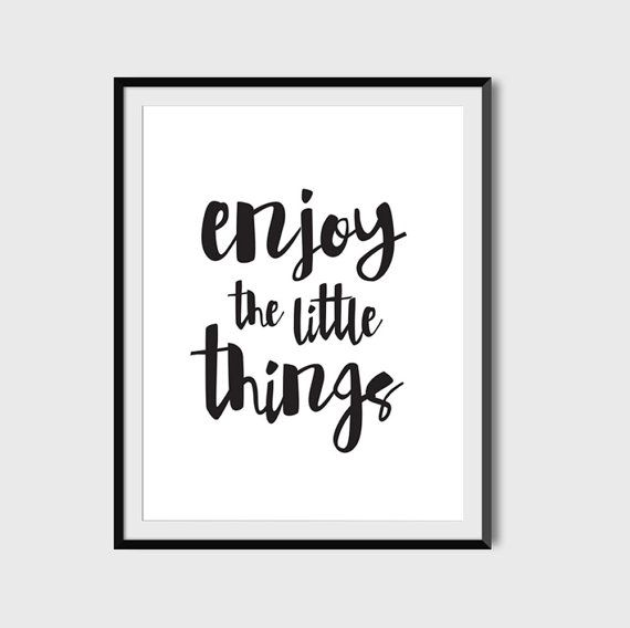 Enjoy The Little Things Typography by PaperLoveGraphics on Etsy