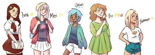 The Owl City albums as cute girls June (Of June) is a shy and reserved girl, inexperienced in life and innocent as few. She's not very confident, but dreams big and longs to walk the streets of big cities and experiencing the world one day. Mei (Mei-by I'm Dreaming) is also quite shy. She's a daydreamer and a hopeless romantic. She would rather spent her days in her thoughts, than in reality amongst others. She's often called 'emo' because of her sentimental and poetic nature, but does…