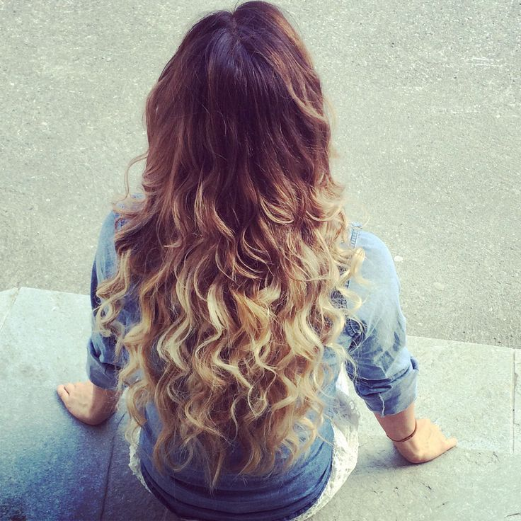Ombre hair curls tapeit extensions love summer hair wella illumina color  brunette