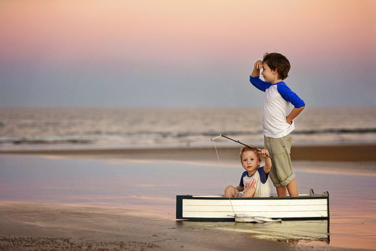 Child Photography. Siblings, Brothers. Beach photoshoot. Boat prop. Rockhampton Photographer. Yeppoon Photographer. Beautiful Memories Photography  https://www.facebook.com/photographybeautifulmemories