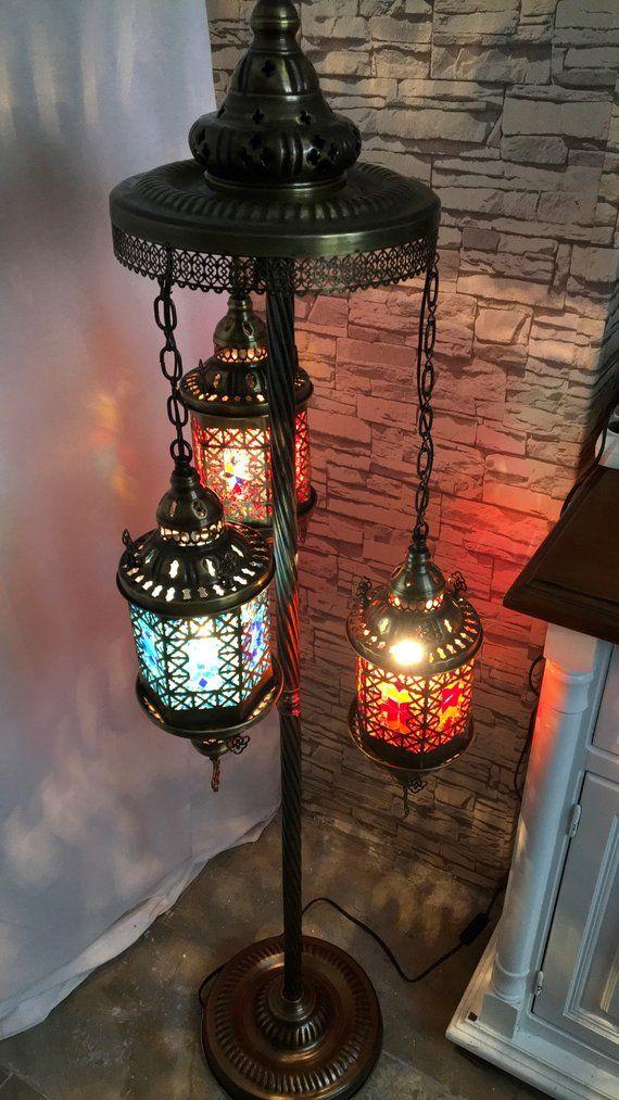 Mosaic Mirror Floor Lamp