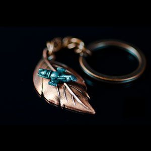 ThinkGeek :: Leaf On The Wind Key Chain-Pendant :: I need this for my birthday please!!! :D