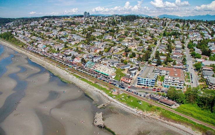 Gorgeous #WhiteRock Aerial Photo - OCEAN VIEWS from the Hillside Homes of East Beach