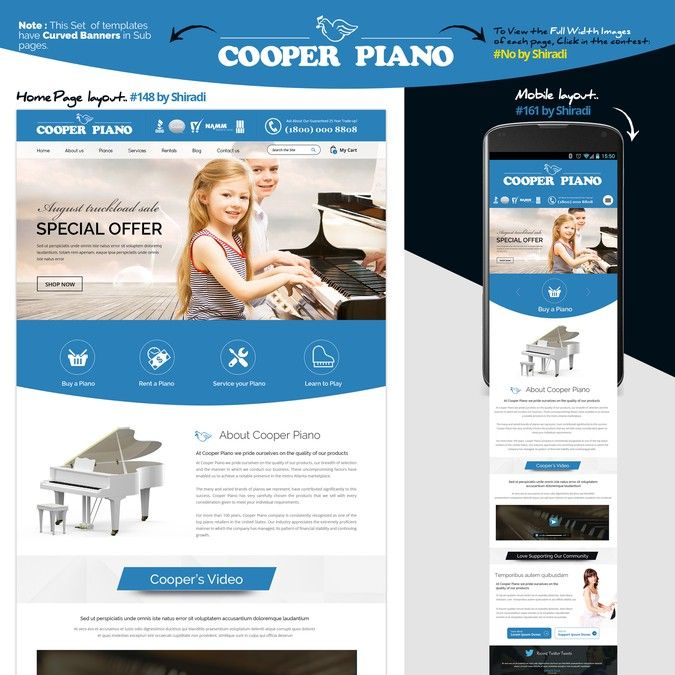 Make a multi-generation family owned Piano store stand out! by Harshall