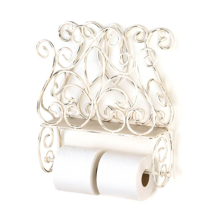 Add vintage shabby chic style to your wall with this pretty wall rack towel holder. The removable towel bar can be used for a paper towel roll in the kitchen, to hold toilet rolls in the bathroom, or for a handy hand towel. Use the upper rack to hold magazines and beyond!