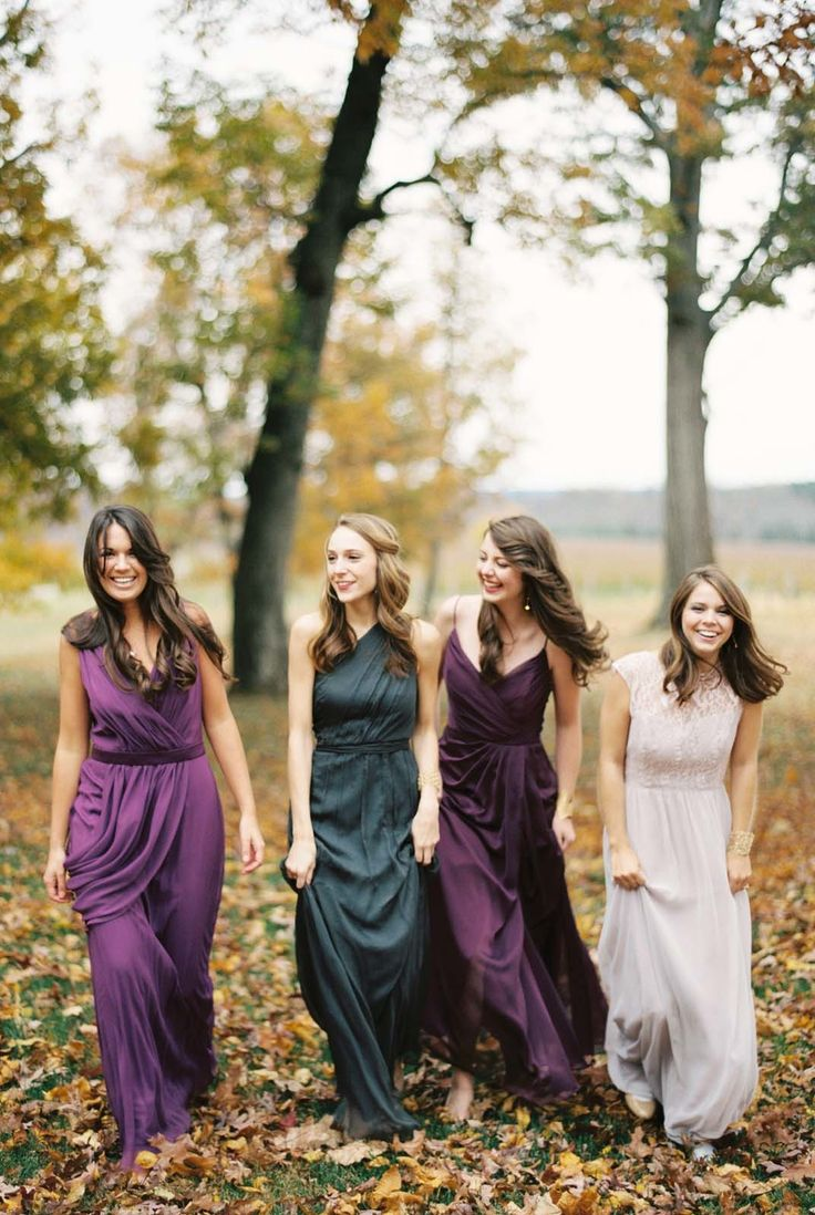 Bridesmaids gowns from Bella Rosa Bridal. See more of this inspiration shoot on Style Me Pretty:  http://www.StyleMePretty.com/2014/03/06/bridesmaids-tea-at-trump-winery/ Photography: Elisa Bricker