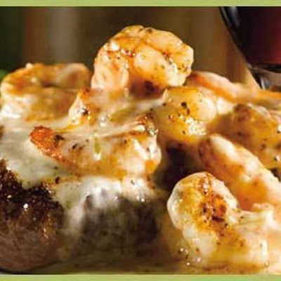 APPLEBEES COPYCAT SHRIMP AND PARMESAN STEAK @keyingredient #cheese #chicken #shrimp