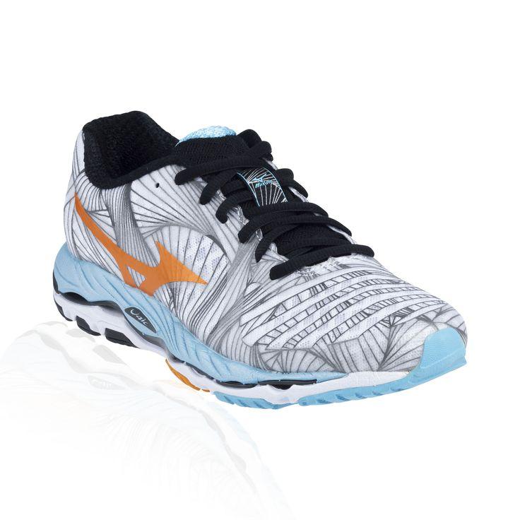 Mizuno Wave Paradox running shoe- white/bright marigold/aquarius
