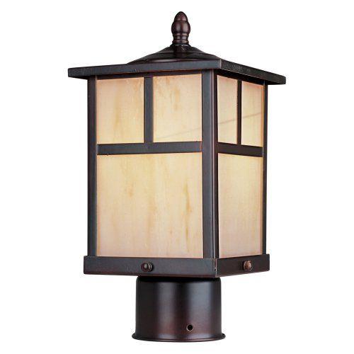 Maxim Craftsman Outdoor Post Lantern - 12H in. - Outdoor Post Lighting at Hayneedle