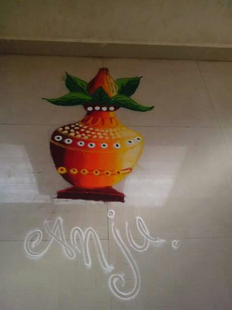 Beautiful garbo rangoli