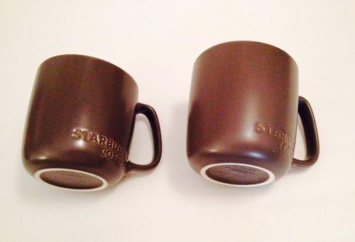Set Of 2 Lot Starbucks Coffee Mugs Brown Mug Over Sized Drinking Glassware