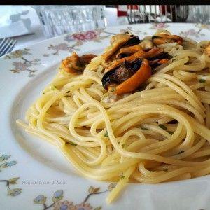 Strepitosi gli spaghetti cozze e vongole anche la sera secondo me!!