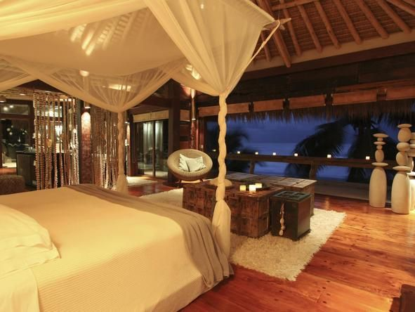 North Island Lodge in the Seychelles #Romantic #Beds #africa #weloveafrica