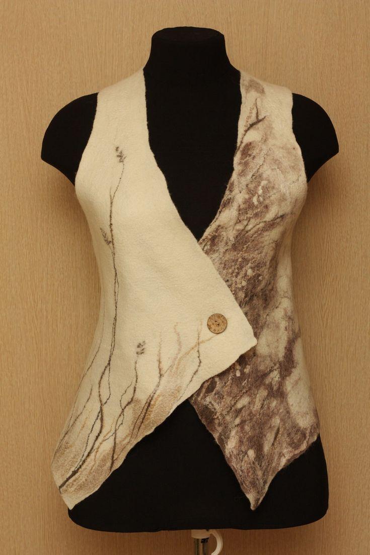 Slipped away summer / Felted Clothing / Vest by LybaV on Etsy