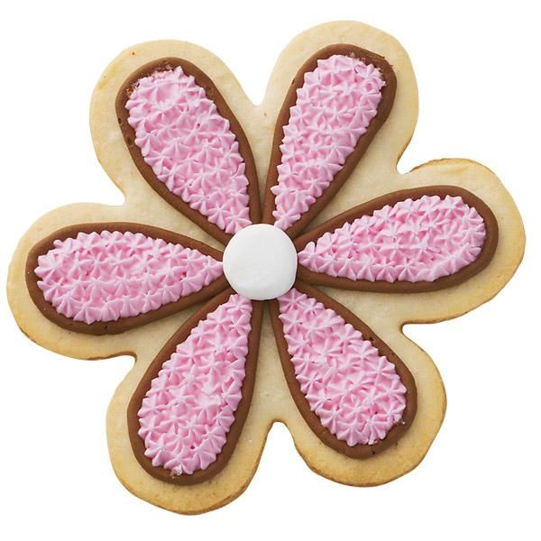 Hint of Chocolate Flower Cookie