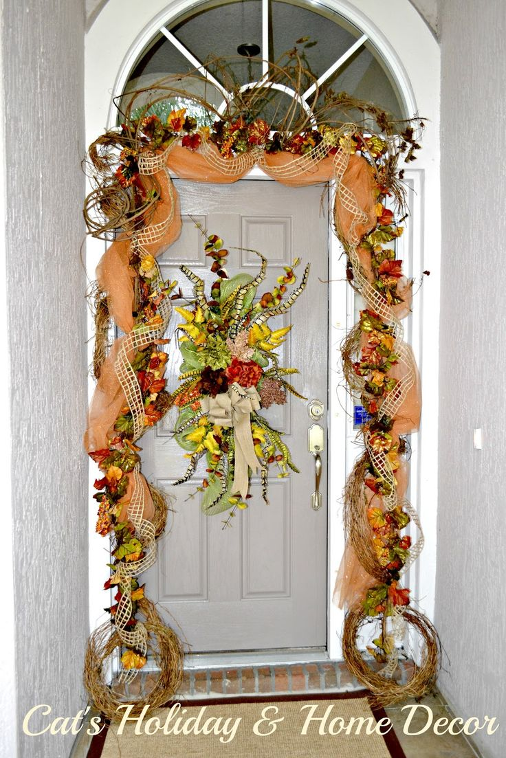 Decorating With Grapevine Garland Cat 39 S Holiday Home Decor Musings Of Fall Decor