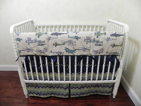 Helicopter Crib Bedding