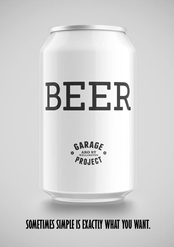 Garage Project Brewery - BEER. Label design.