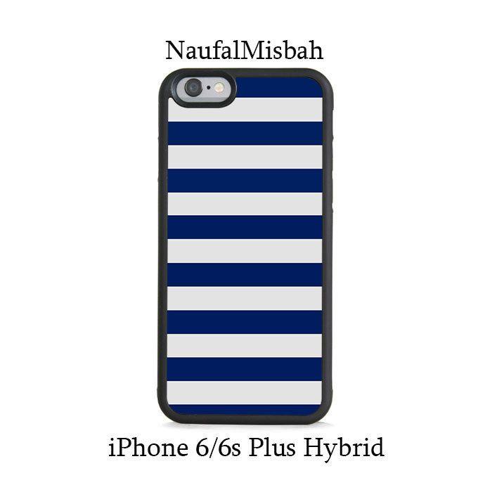 Blue Navy Stripes iPhone 6/6s PLUS HYBRID Case Cover