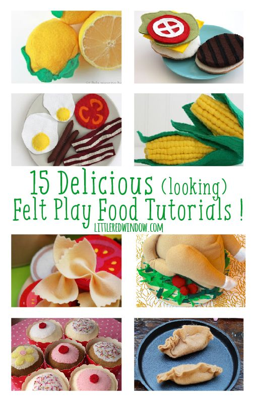 15 Delicious (looking) Felt Food Tutorials, they're all free! | littleredwindow.com
