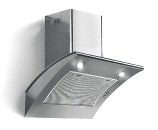 Chimney Cooker Hoods ao.com reviews a bit noisy. pro looks good with a good light.   cooker hood is more about looks than function in my opinion,