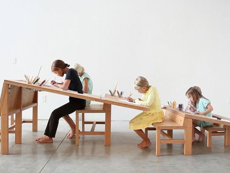 'Growth Table' Is A Community Drawing Table Designed To Accommodate The Whole Family | Inhabitots