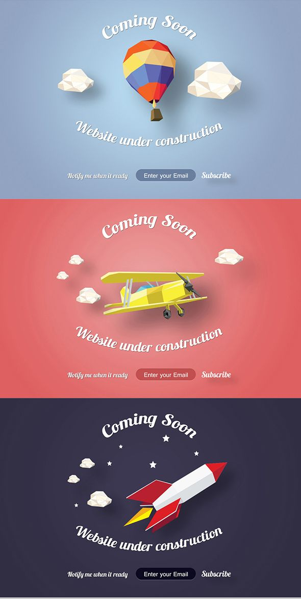 Coming Soon | Under Construction Pages. on Behance..