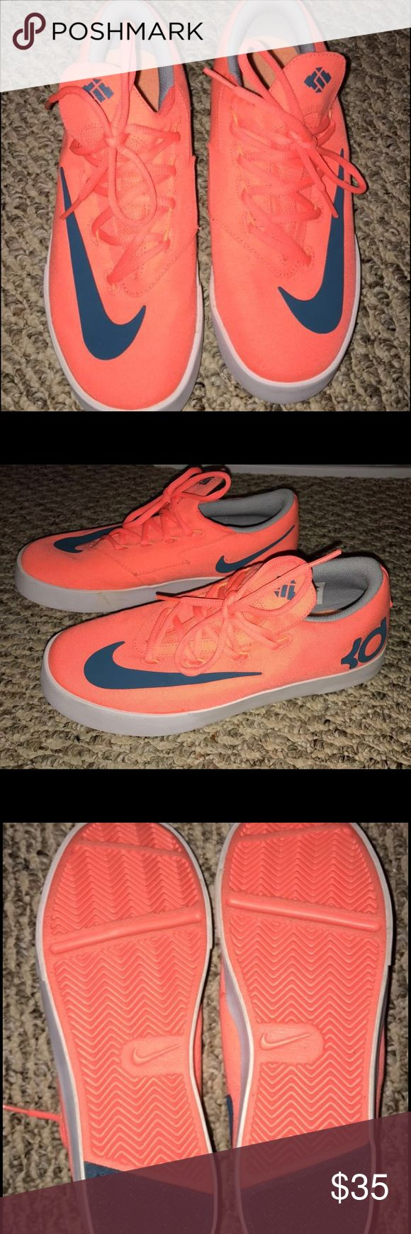 Kevin Durant Bright Mango Boys sneakers size 7Y Barely used in great condition Shoes Sneakers
