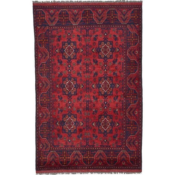3' 4 x 5' 3 Khal Mohammadi Oriental Rug ($638) ❤ liked on Polyvore featuring home, rugs, oriental style rugs, asian area rugs, oriental rugs, asian rugs and oriental area rugs