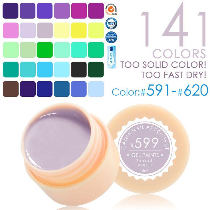#50618  141 Color CANNI Professional Nail Art Design 5ml UV LED Soak Off Paint Gel Ink UV Gel For Nails