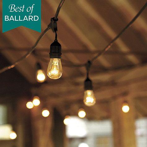 Vintage String Lights with Bulbs | Ballard Designs