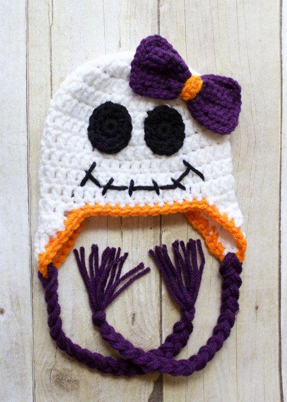 Crochet Halloween Hat/ Crochet Ghost Hat/ Baby by KKCrochetDesigns