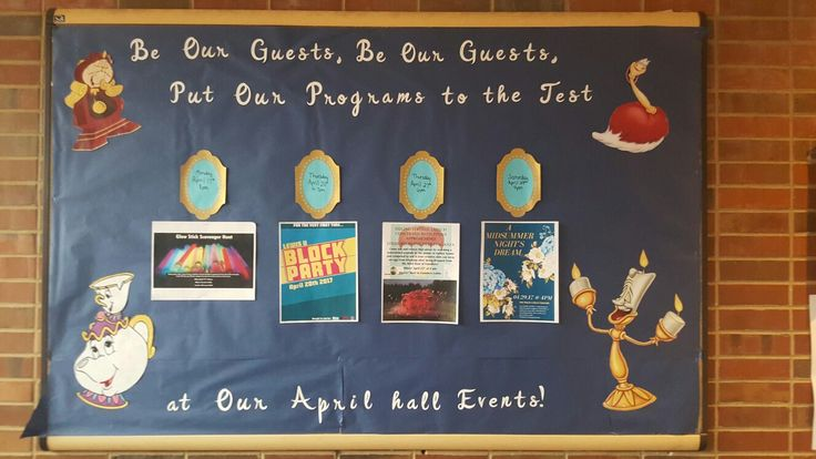 Beauty And The Beast Theme Ra Bulletin Board College