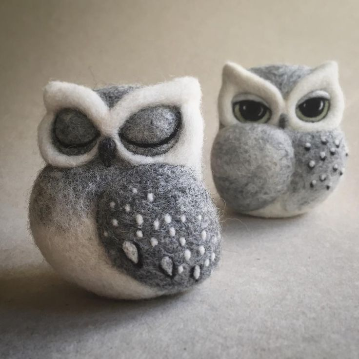 Needle felted owl.