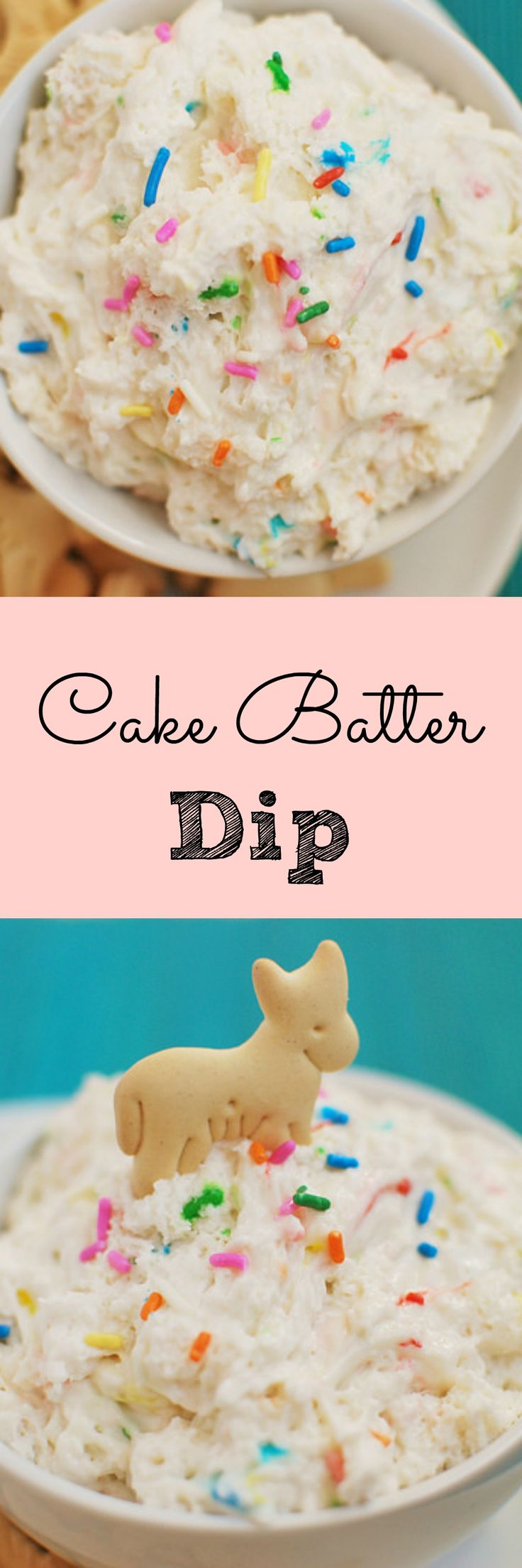 Cake Batter Dip - Ingredients 1 (18.9 oz) box Funfetti cake mix 2 cups fat-free plain Greek yogurt 1 cup lite Cool Whip Instructions In a large mixing bowl, use a rubber spatula to mix cake mix, Greek yogurt, and Cool Whip together until no lumps remain. Cover and refrigerate for at least 4 hours. Serve with fruit or animal crackers.