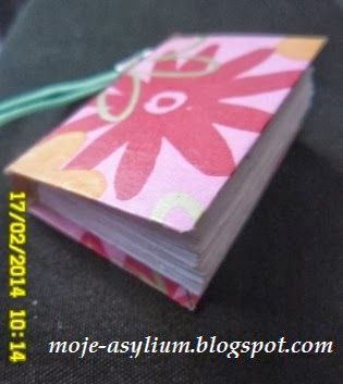 """Moje asylium: Z cyklu """"małe jest piękne"""" - mini notatnik"""