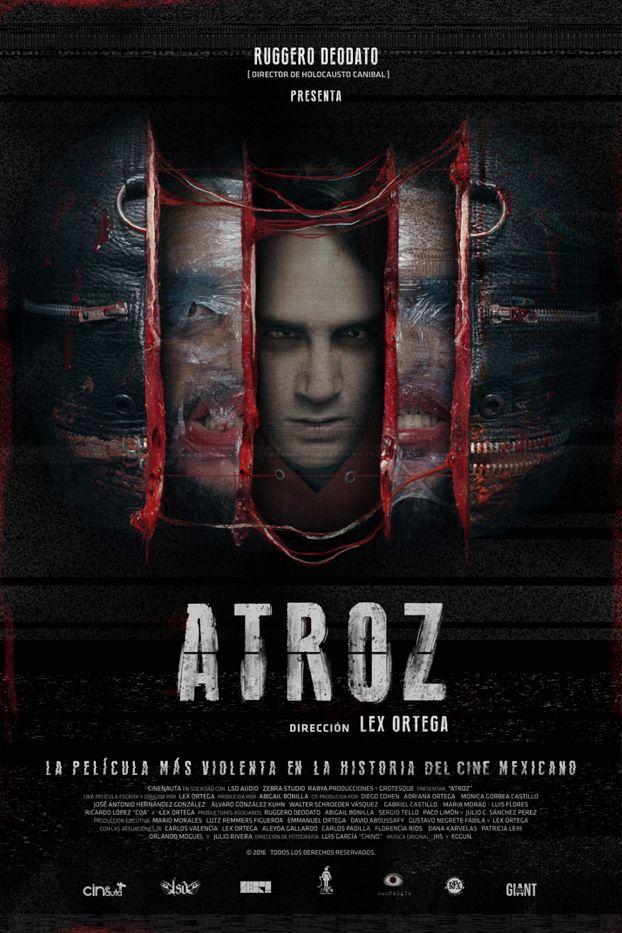 """EXCLUSIVA: sádico póster oficial de """"Atroz"""" de Lex Ortega"""