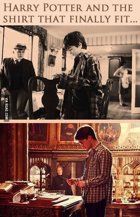 Harry Potter finally grew into that shirt.
