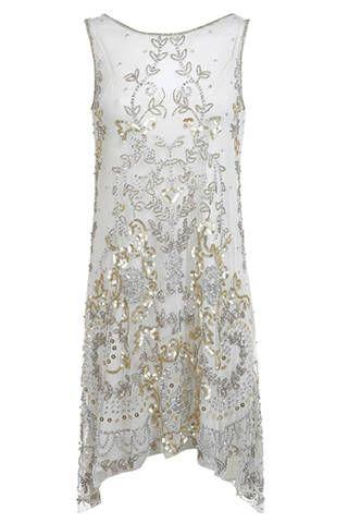 Miss Selfridge Danielle Drop Back Dress, $175; missselfridge.com Courtesy of Retailers  - ELLE.com
