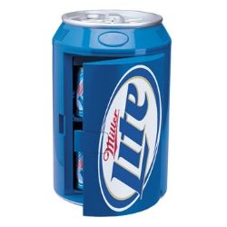 Miller Lite Can Shaped Fridge Cooler Man Caves