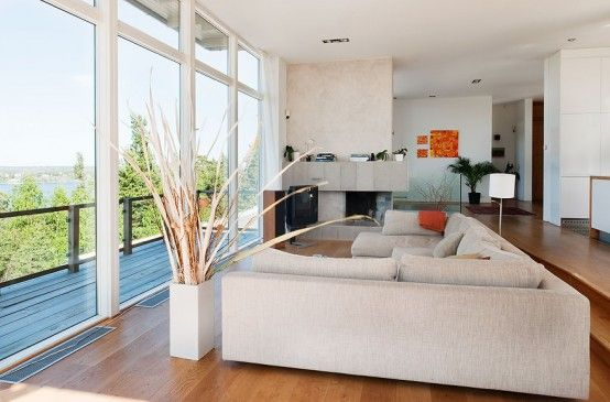 bright living room love the floor to ceiling windows