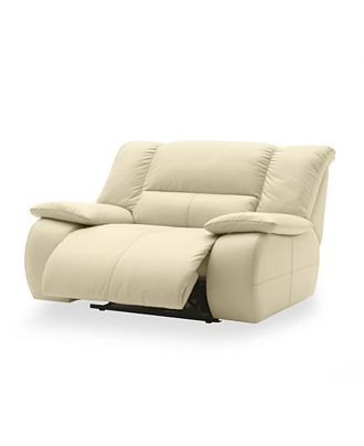 Franco Leather Power Recliner Chair, 51W x 43D x 39H - furniture - Macys. color: pearl. Lovee. need to find an extra wide recliner for our living room :) - straight snuggggggling!