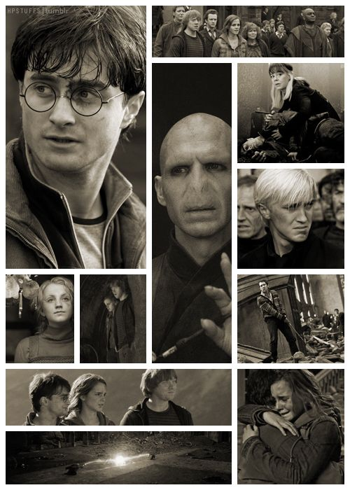 Deathly Hallows, Part 2. This is one of the best HP collage I've seen. Totally captures the mood. Wonderful.