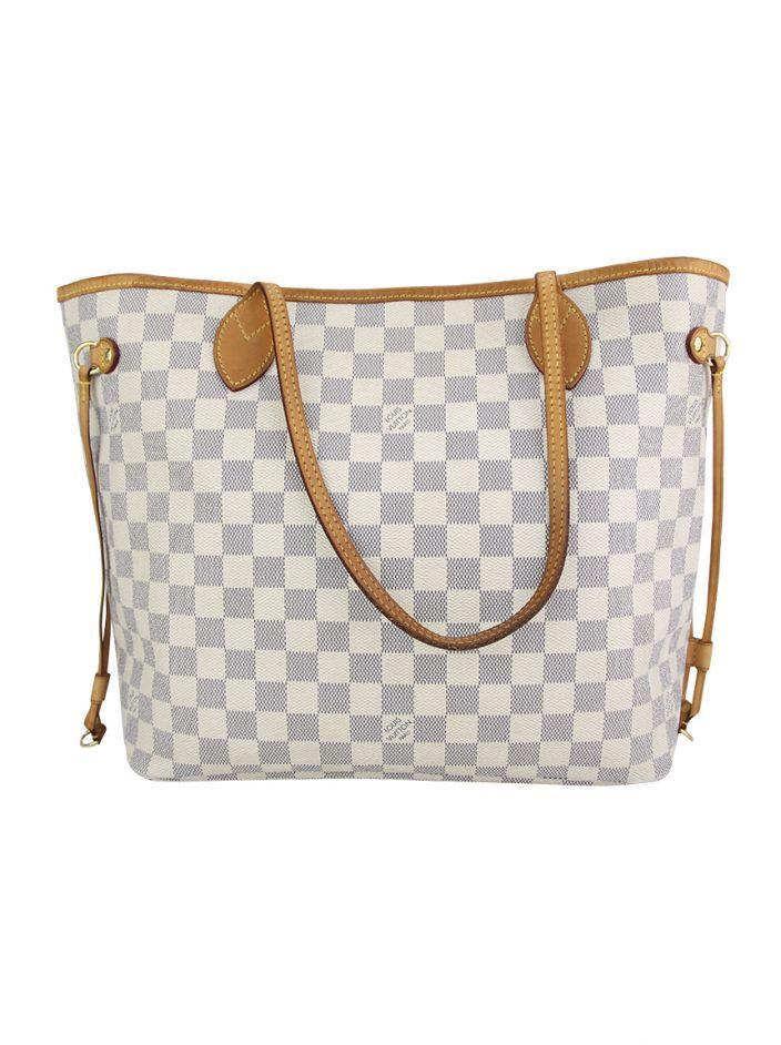 1a98d5c90 Bolsa Louis Vuitton Neverfull MM Damier Azur original confeccionada em  canvas. O modelo em tamanho