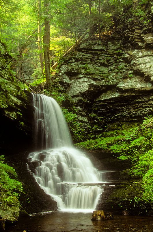 Bridal Veil Falls, Pocono Mountains, PA. | Flickr - Photo Sharing!