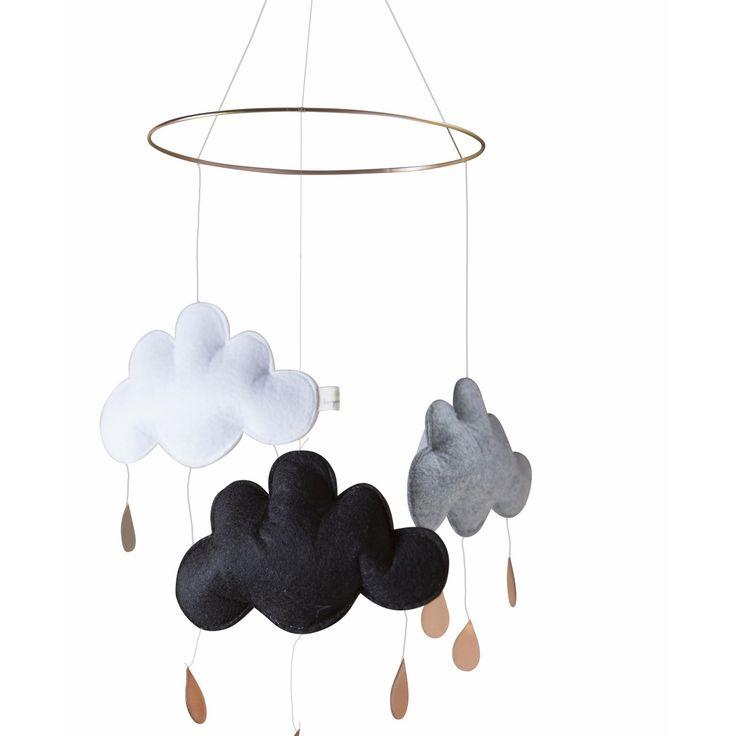 Konges Sløjd Sky Mobile Venus Cloud Black / Grey Melange / White