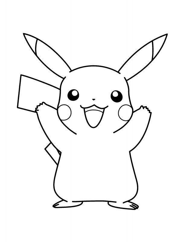 Pikachu Para Colorear Con Imagenes Dibujo De Pikachu Dibujos