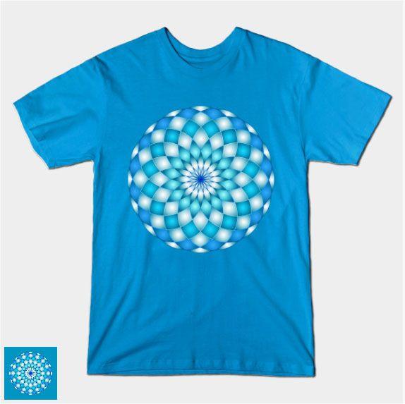 SOLD BLUE MANDALA G3! #Teepublic #Blue #Mandala #abstract #lotus #flower  #tshirt #shirt https://www.teepublic.com/t-shirt/141186-blue-mandala-g3