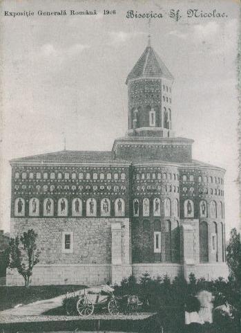 Bucuresti - Biserica Sf Nicolae -Expozitia nationala 1906